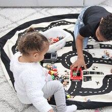 Детский игровой коврик игрушки для младенцев Сумка Коврики портативный Детский ковер круглой формы игровой коврик для малышей Коллекционная сумка для хранения