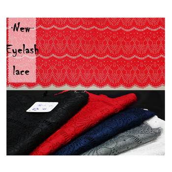 Floral Embroidered Eyelash Lace Fabrics Polyester African Guipure Cord Tissue Tecido Sewing Supplies For Party Wedding Dress