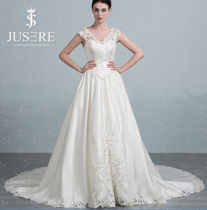 Plain a Line Wedding Dresses with Train