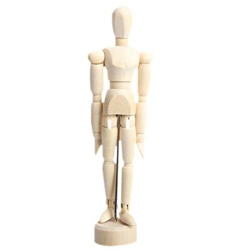 4.5 Inch Wooden Male Artist Manikin Jointed Mannequin Hand Blockhead Puppet (4.5inch) пуф wooden круглый белый