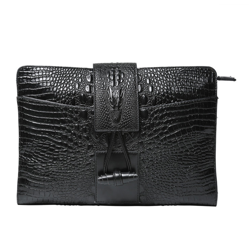 ETONWEAG Fashion Crocodile Grain Men Women Clutch Bag Evening Party Large Clutches Handbag Alligator Wallet 2018 yuanyu 2016 new women crocodile bag women clutches leather bag female crocodile grain long hand bag