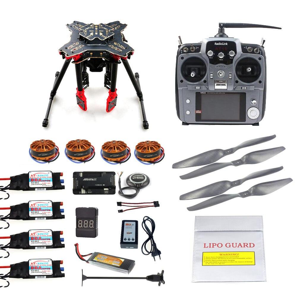 DIY gps Drone RC Quadcopter HMF U580 Тотем серии Полетный контроллер apm2.8 700KV двигателя 30A ESC Радиолинк AT10 TX и RX полный набор