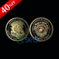 1pcs Fashion medal home decoration souvenir bronzed plated coin collectibles Unite States Marine Corps Demon dog challenge coins