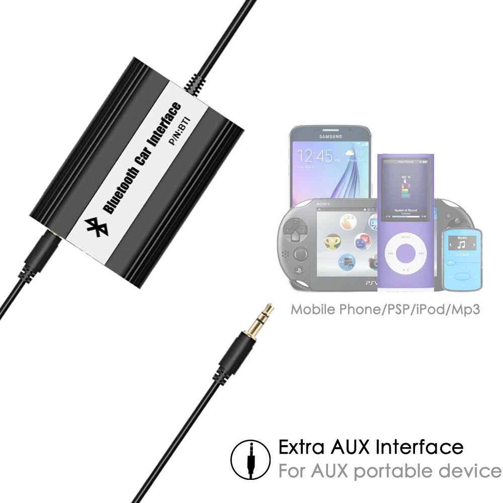 US $60 29 10% OFF|APPS2Car Integrated Hands Free Car Bluetooth Wireless  Music Adapter USB AUX Jack Adapter for Citroen C4 Picasso 2006-in Car MP4 &