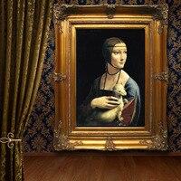 Ручная роспись Европейский стиль Леонардо Ди Serpiero да Винчи Мона Лиза home decor Живопись