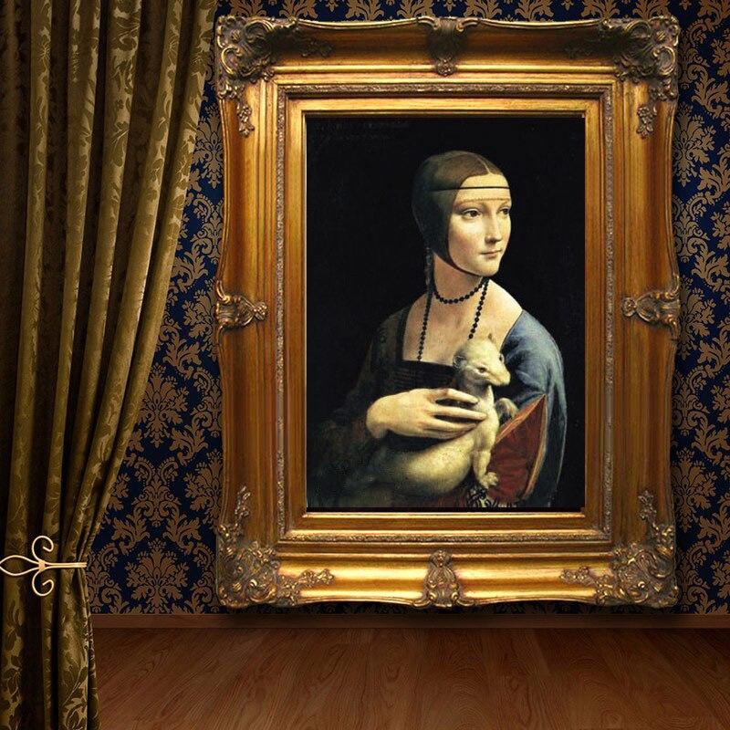 Peint à la main style européen Leonardo Di Serpiero Da Vinci Mona Lisa home decor peinture