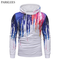 3D Colorful Splash Ink Print Hoodies Men 2018 Harajuku Long Sleeve Mens Hooded Sweatshirts Hip Hop Sweat Homme Hoody Tracksuit