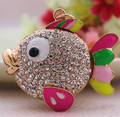 Colorfu Clown Fish Rhinestone Keychain Crystal Charm Pendent Purse Bag Key chain