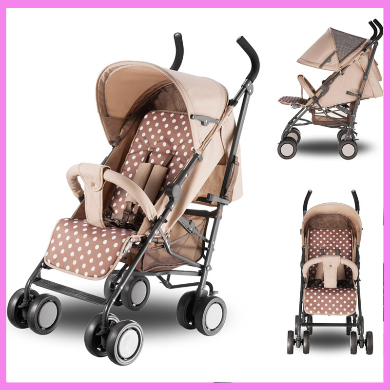Baby Umbrella Stroller Pushchair Portable Lightweight Folding Baby Carriage Kids Pram Storage Basket Rotating Wheels Footrest super lightweight folding baby stroller child pushchair umbrella portable travel baby carriage baby pram poussette kinderwagen