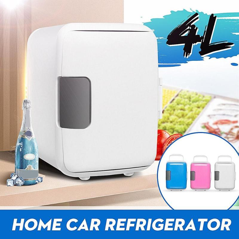 Dual-Use 4L Home Car Use Refrigerators Ultra Quiet Car Mini Refrigerators Low Noise Freezer Cooling Heating Box Fridge