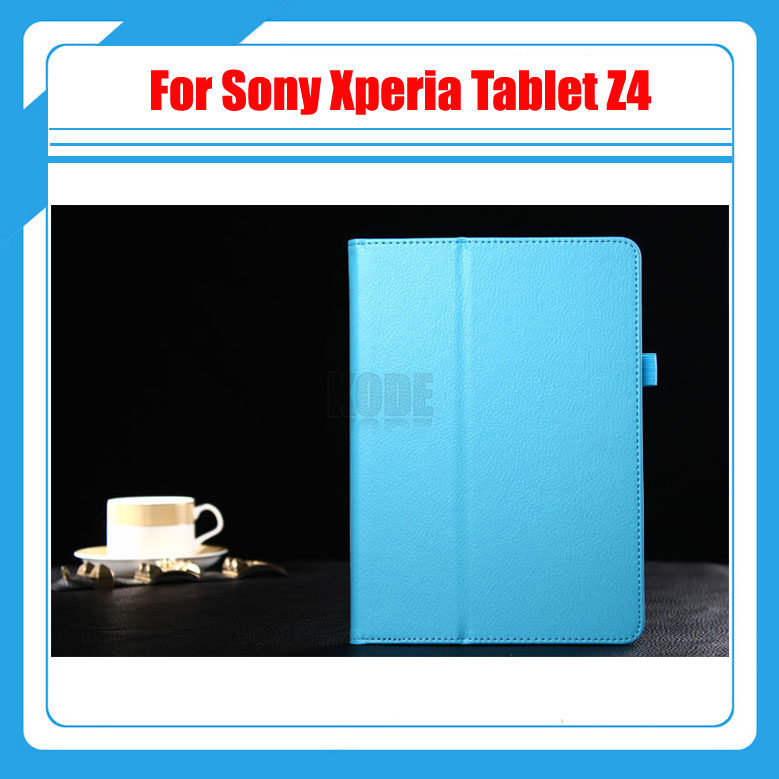 2 in 1 , For Sony Z4 PU Leather Case Stand Tablet Cover Case For Sony Xperia Tablet Z4 + Screen Protector