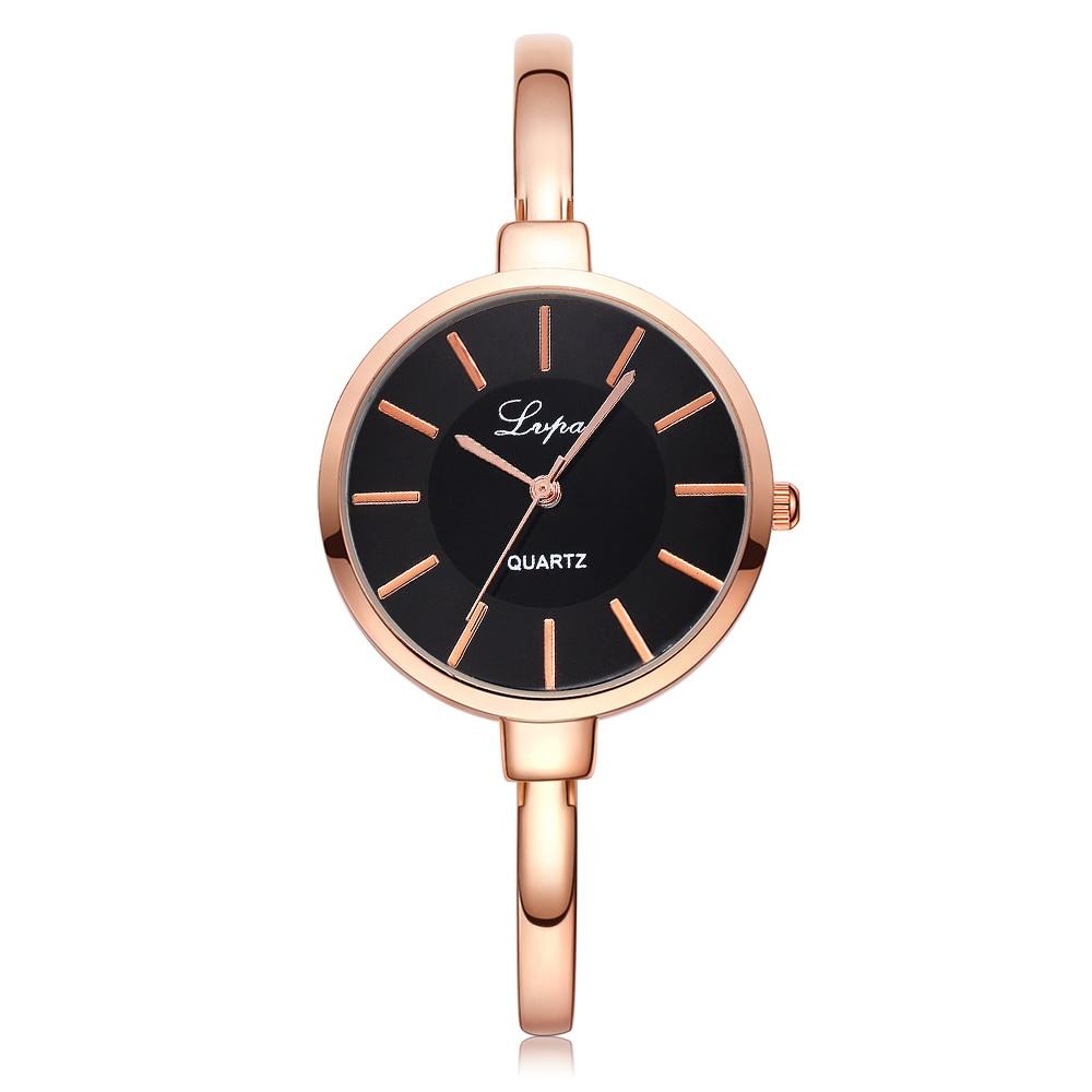 Lvpai rose goud vrouwen armband horloges mode luxe quartz-horloges - Dameshorloges - Foto 5