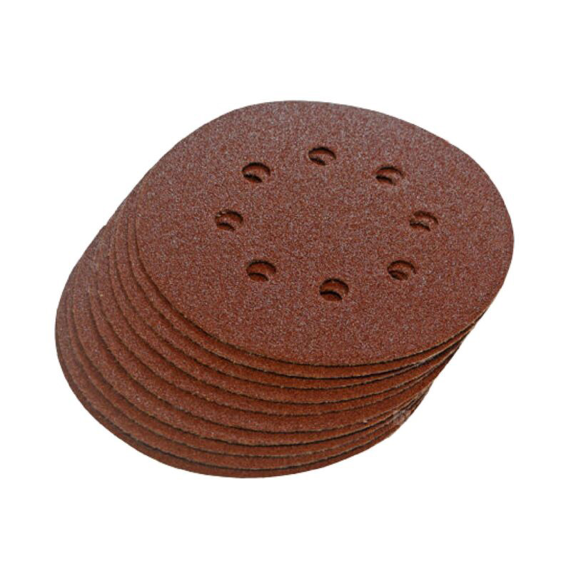 New 20PCS/set Sanding Discs  125mm 60Grit 8-Hole Sandpaper 115mm Punched Sanding Discs High Quality Sander Tool Part