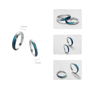 Image 5 - Thaya Bright Shining River Emerald Rings s925 Silver Circular Soft Blue Romantic Jewelry Ring for Women Elegant Simple Gift