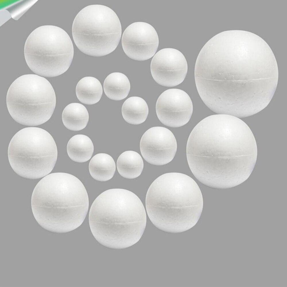 Мм 20 шт./лот 20 мм 25 пенополистирол Творческий EPS твердый маленький шар DIY ремесло белый пенополистирол шар сферы орнамент