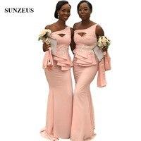 Jurken Lang Русалка одно плечо розовый вечерние платья Длинные Африканский Для женщин вечерние платья с аппликациями abito damigella
