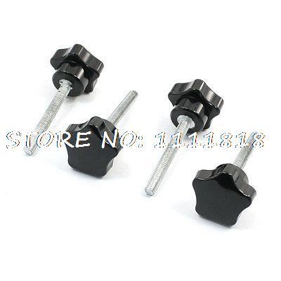 Replacement 5mm x 28mm Screw On Type Star Knob Grip 70mm Long 4 Pcs антипробуксовочные ленты type grip tracks