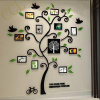 Árbol genealógico marco de fotos 3D de cristal acrílico en tres dimensiones pegatinas de pared, árbol genealógico marco de acrílico 3d decoración del Hogar, YK2