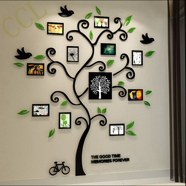 Family Tree Frames For Wall aliexpress : buy 3d crystal acrylic three dimensional family