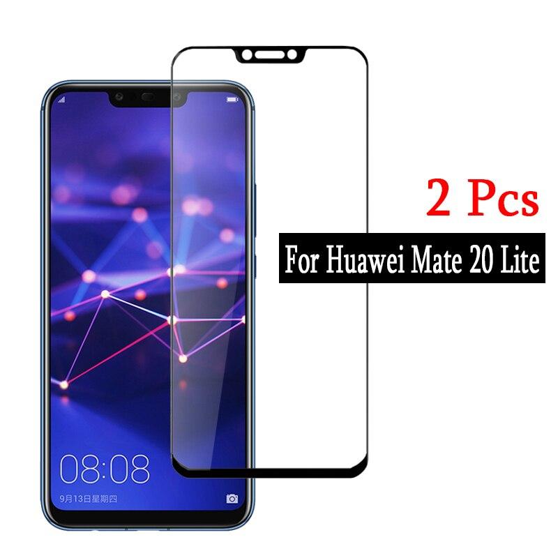 2pcs For Huawei Mate 20 Lite Tempered Glass  Full Cover Safety Protective Glass For Huawei Mate 20 Mate20 Lite Light Huawey