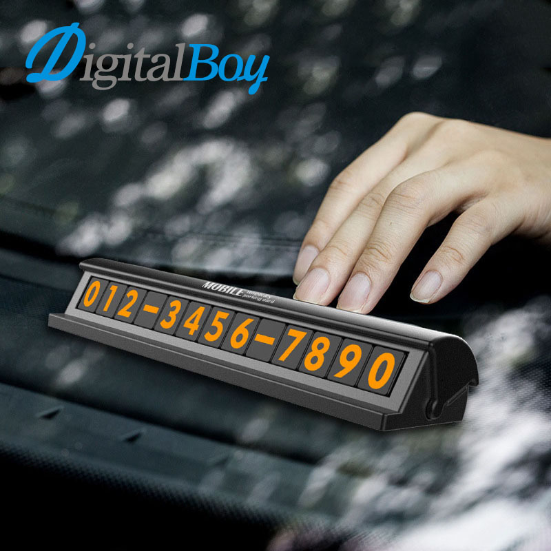 New Upscale Car Temporary Telephone Number Plate Parking Card Phone Number Hidden Magnetic Style Easy to Disassemble Replace