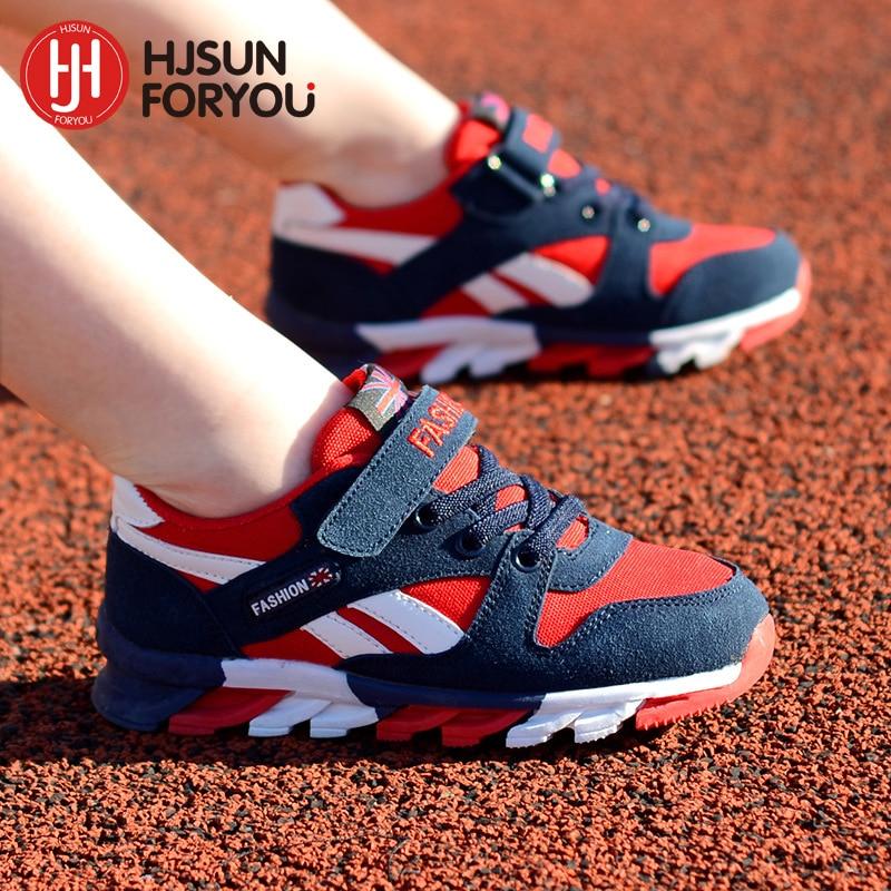 2016 Новых Детская обувь мальчиков кроссовки девушки спортивная обувь размер 26-39 детский досуг тренеры повседневная дышащий дети кроссовки обувь