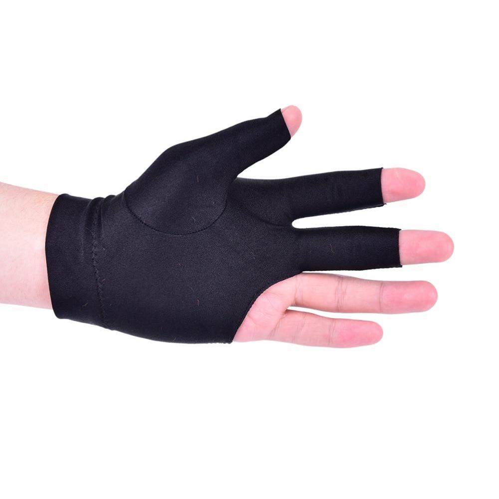 Billiard Three Finger Gloves Pool Cue Spandex Snooker Sports Left Hand Wear
