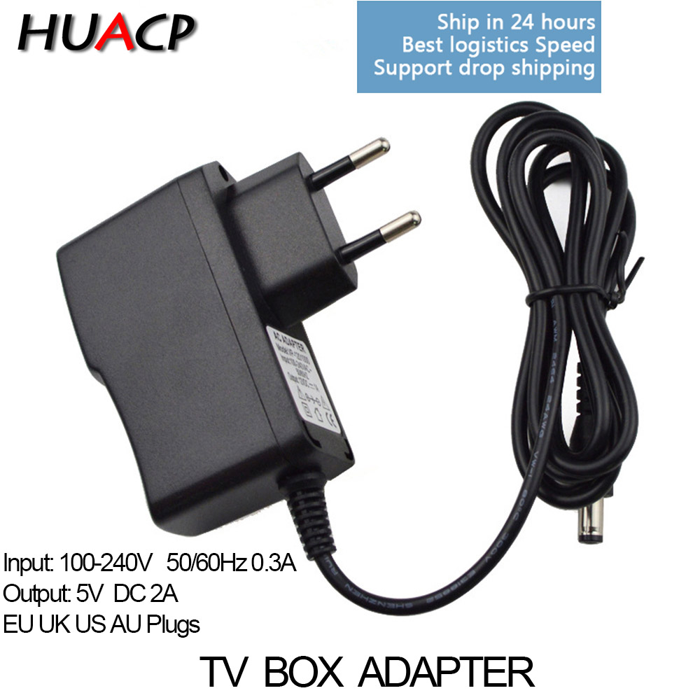 HUACP Smart Android TV box 5V 2A Charger AC-DC Power Adapter for H96 x88 A5x MAX V88 T95 X96 5V/2A UK EU AU US AC set top PlugHUACP Smart Android TV box 5V 2A Charger AC-DC Power Adapter for H96 x88 A5x MAX V88 T95 X96 5V/2A UK EU AU US AC set top Plug