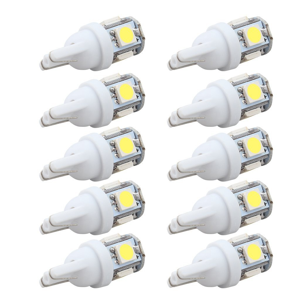 10pcs car led 12v t10 light t10 5050 super white 194 168 w5w t10 led parking bulb auto wedge. Black Bedroom Furniture Sets. Home Design Ideas