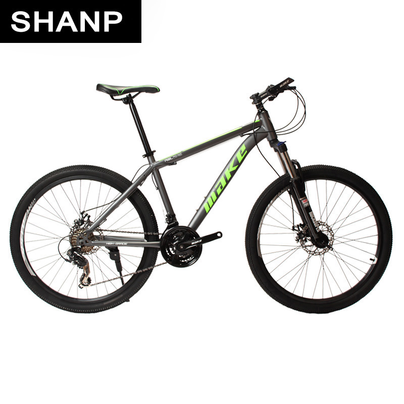 MAKE Mountain Bike Steel Frame 24 Speed Shimano 26 Wheel Mechanical Disc Brakes MTBMAKE Mountain Bike Steel Frame 24 Speed Shimano 26 Wheel Mechanical Disc Brakes MTB