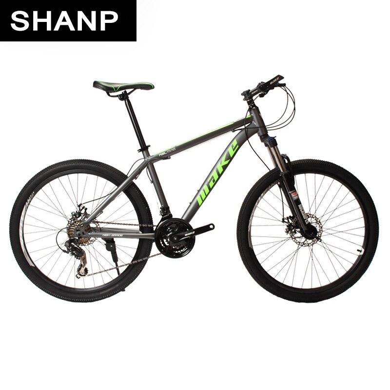 SHANP Горный велосипед стальная рама 24 скорости Shimano дисковые тормоза 26