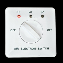 High quality 3 grade air conditioner switch wall switch AC 220V 2A fan speed controller adjustable free shipping цена 2017