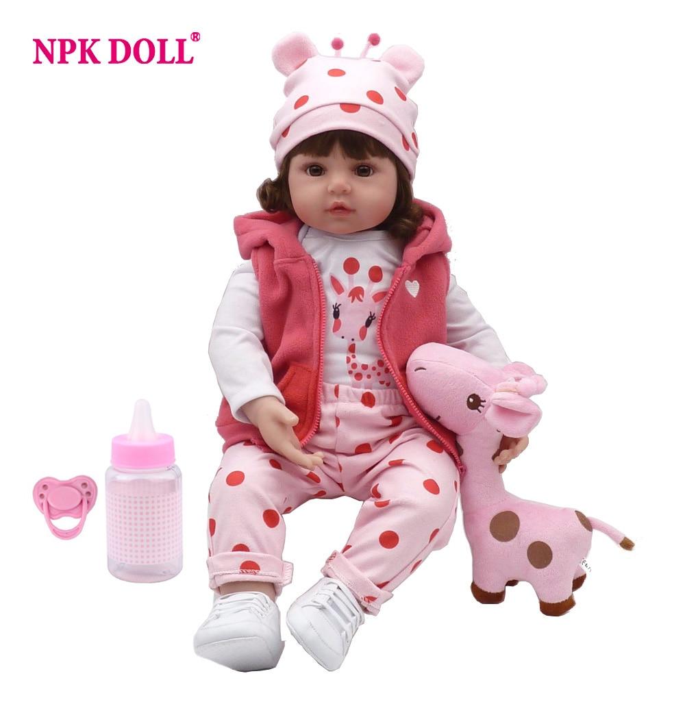NPKDOLL Baby Reborn Puppe Neueste Neue Silikon Boneca Entzückende menina Schöne 47 cm/57 cm weiche vinyl überraschung weihnachten geschenk kinder