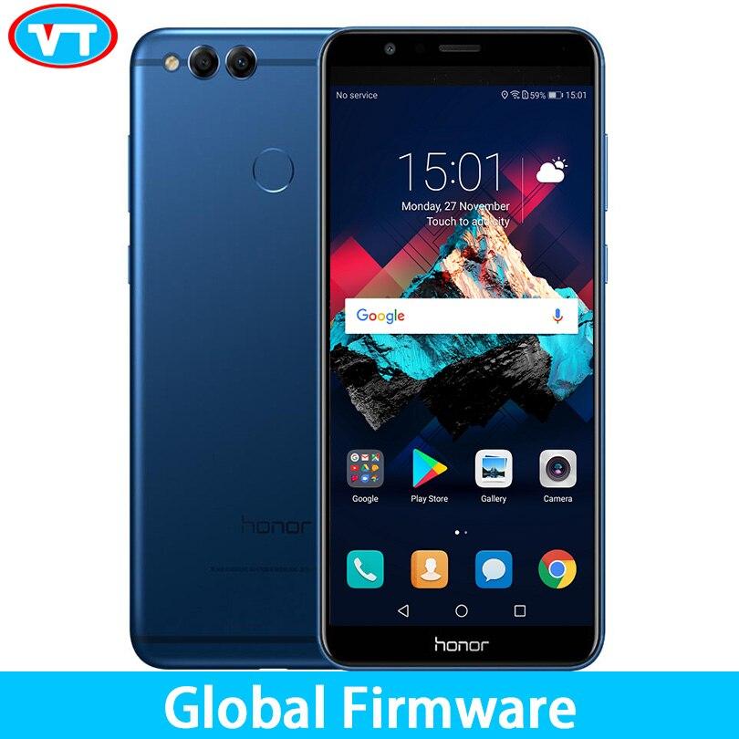 """Global ROM huawei Honor 7X4 ГБ 32 ГБ мобильного телефона Восьмиядерный двойной сзади Камера 5,93 """"2160 * 1080P сканер отпечатков пальцев Android 7,0"""