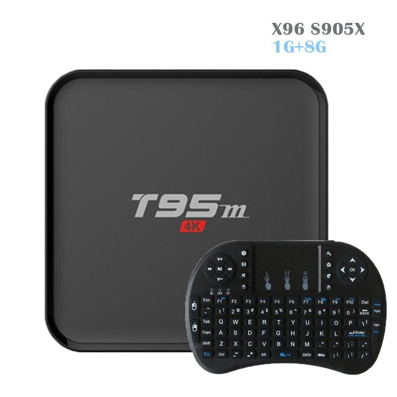 2017 T95m Android TV box Amlogic S905X Set Top Box Quad Core 2GB 8GB with LED display KODI 16.0 BT4.0 Smart TV Box Media Player