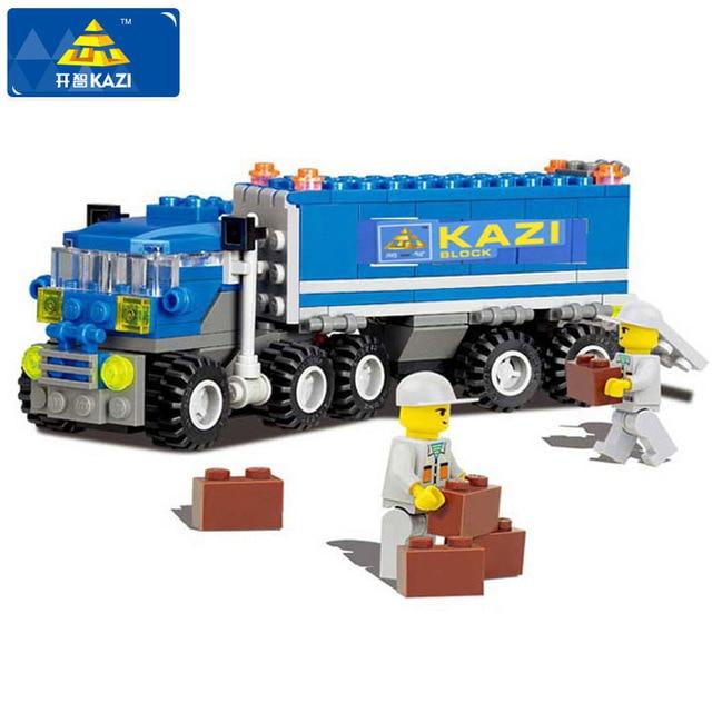 KAZI Dumper Truck Building Blocks Set Model 163+pcs Enlighten Educational DIY Construction Bricks Playmobil Toys For Children