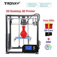 Tronxy X5 Desktop 3D Printer Precision Reprap Big LCD display DIY 3d printers Kit 210*210*280mm Heated Bed +10M Filament SD Card