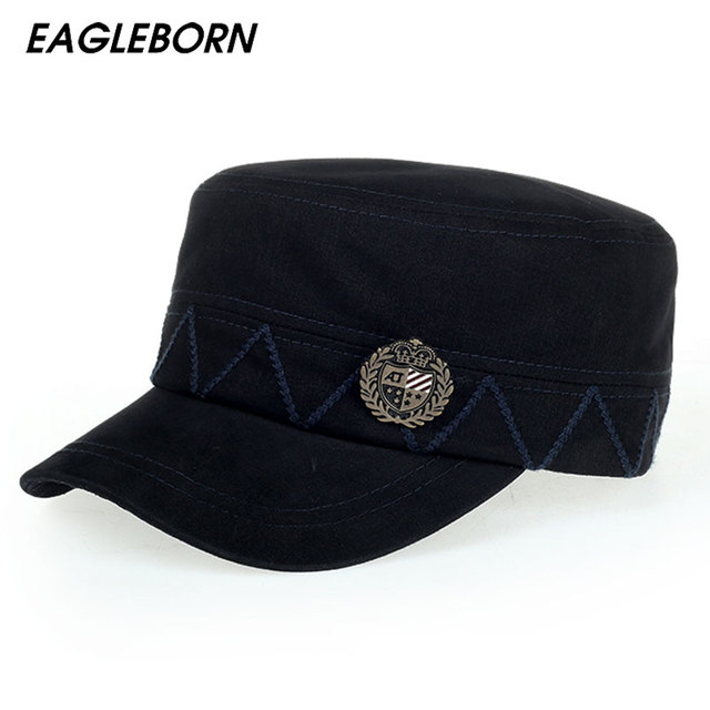 d36f2e2a4 US $11.39 |[Eagleborn] 2019 Retro Cotton Men's Military Cap for Men Women  Navy Sailor Captain Hat Dad Hat Brand New High Quality-in Military Hats  from ...