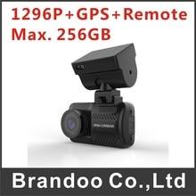 1296 P Súper cámara salpicadero de un coche con GPS, apoyo Max. tarjeta de 256 GB micro sd, M6