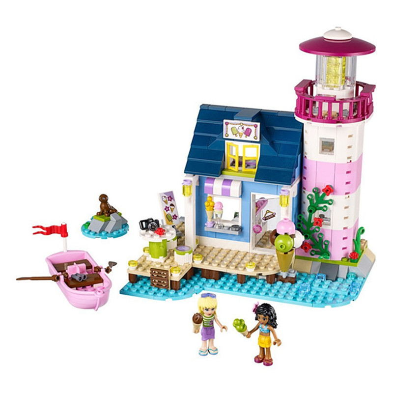 478pcs Bela diy Friends 41094 Heartlake Lighthouse Model Building Kits Blocks Compatible with legoingly Bricks Toys for children gonlei 2016 bela 10539 341pcs heartlake hair salon model building kits blocks bricks girl toys gift lepin 41093 p650