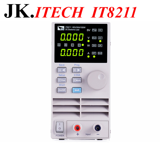 IT018 ITECH IT8211 Professional Digital Control DC Electronic Loads Single Channel Electronic Loads 60V 30A 150W Instrumentation new home furnishings contactor sd 48 vdc spot n21 24 vdc
