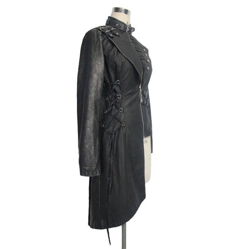 Devil Fashion Heavy Punk seksi asimetrične jakne od umjetne kože za - Ženska odjeća - Foto 5