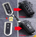 Free Shipping 3 Buttons/2 Buttons Fob Modified Flip Folding Remote Key Case Shell For Toyota Camry Prado Highlander Yaris Vios