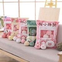 A bag of 8pcs Unicorn&Flamingo&Dinosaur&RabbitΠg Plush Toy Soft Cartoon Stuffed Doll Pudding Snack Pillow Girlfriend Kids Gift
