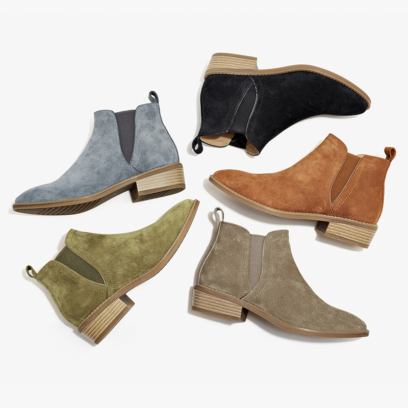 2016 New Women Chelsea boots Winter Warm Martin Boos Genuine Leather Womens Shoes Short  ...