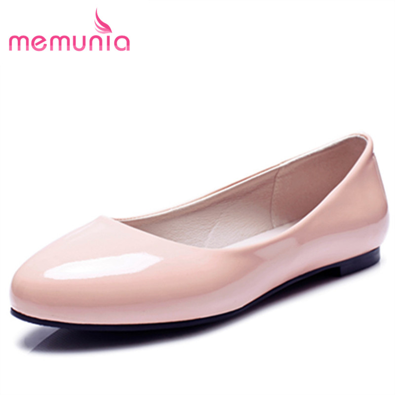MEMUNIA 2017 fashion new arrive spring autumn single shoes shallow women flats simple  college style big size 34-47 memunia 2017 fashion flock spring autumn single shoes women flats shoes solid pointed toe college style big size 34 47