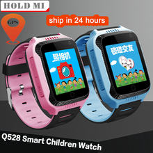 Q528 Y21 Touch Screen Smart Kids GPS Watch with Camera Lighting Children Watch Sleep Monitor PK Q60 DZ09 GPS SOS Baby Watch(China)