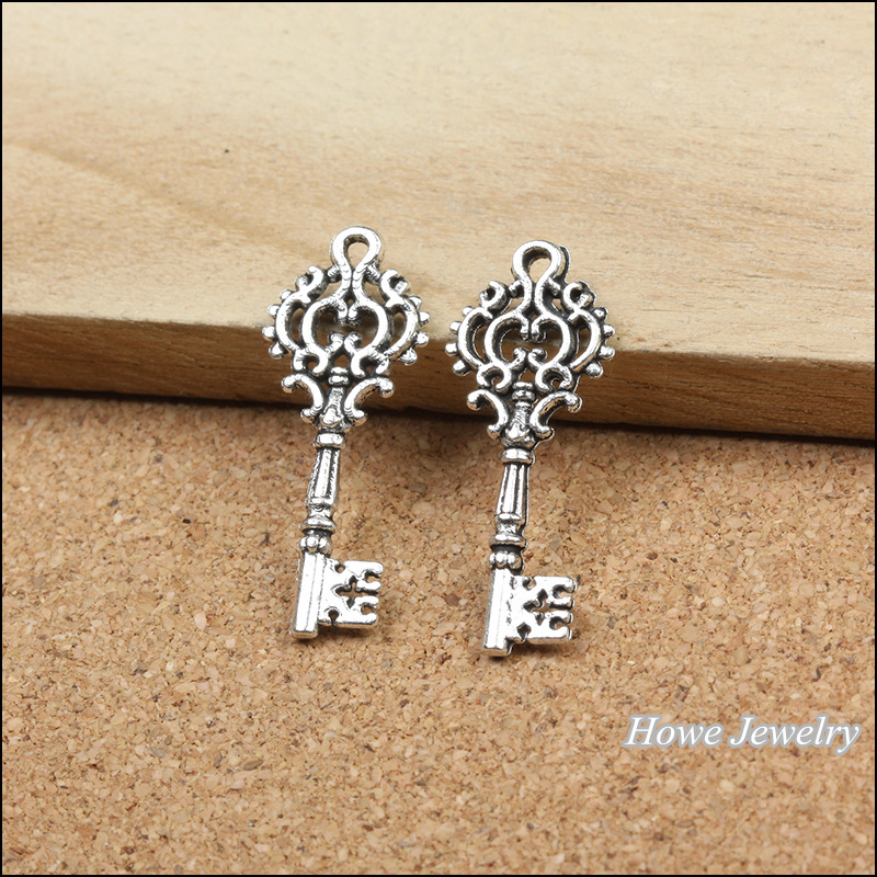 Cheap Sale 30pcs Vintage Zinc Alloy Charm Antique Silver Imperial Crown Keys Pendant Fit Bracelet Necklace Metal Jewelry Accessories Making Jewelry Findings & Components Beads & Jewelry Making
