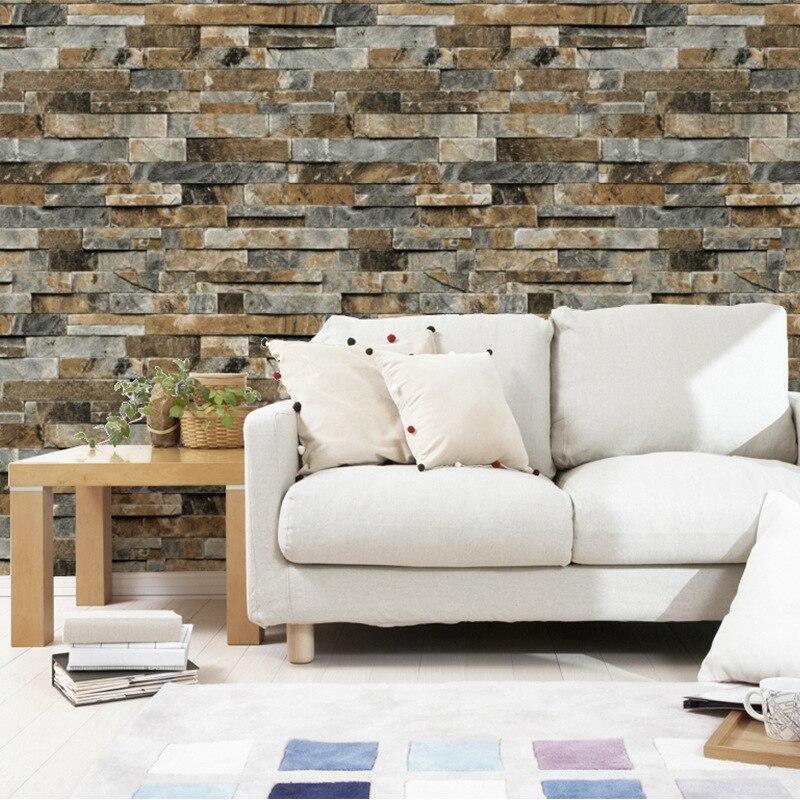 beibehang High-grade three-dimensional retro simulation Marble wallpaper Brick stone pattern Restaurant Bar Background wallpaper edinburgh a three dimensional expanding city skyline