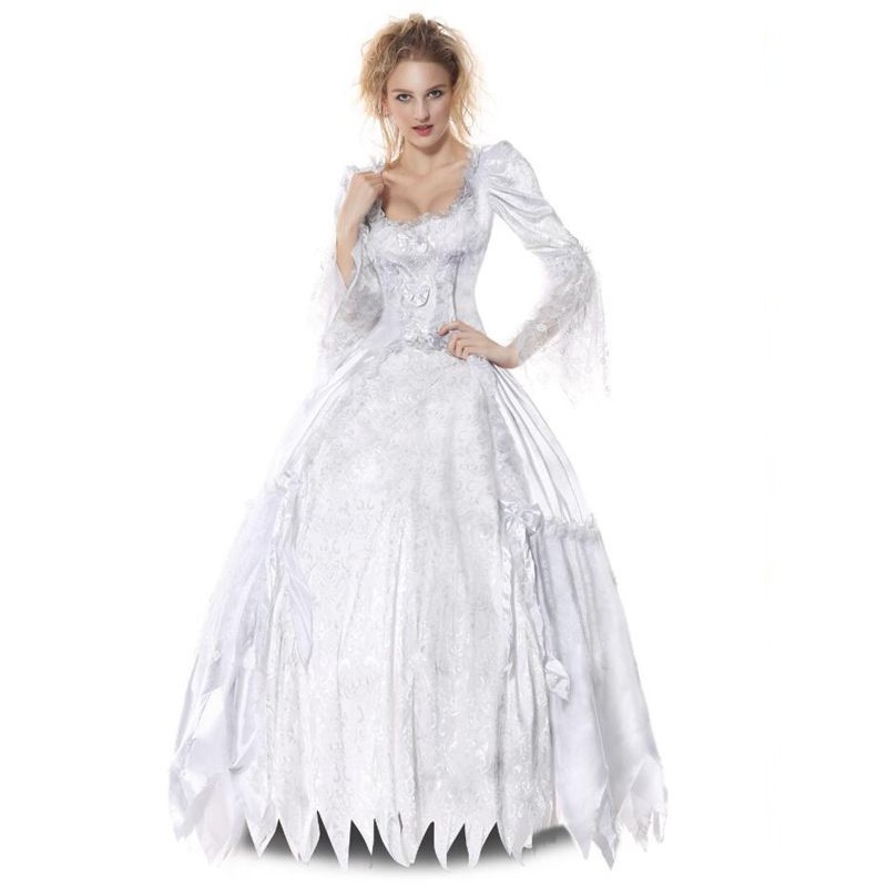Horrible Ghost Bride Long Dress Halloween Zombie Wedding Skull Fancy Masquerade Carnival Vampire Party Uniform In Holidays Costumes From